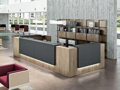 Téléchargez le catalogue et demandez les prix de Z2 By quadrifoglio, banque d'accueil de bureau modulable