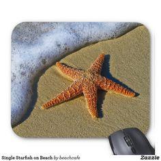 Single Starfish on Beach Mouse Pad