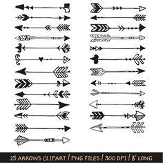 vector arrows clip art tribal arrow clipart archery hand ...