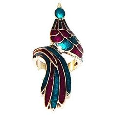 peacock art deco | Art Deco Peacock Swirl Ring | Jewelry, Shoes, Accessories