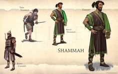 Shammah page from FIVE: Guardians of David Art Book