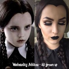 Makeup Wednesday Addams Costume Diy - Wednesday Addams Making A Post Halloween Appearance Katvondbeauty Diy Wednesday Addams Costume Halloween Costumes Diy Halloween Easy Wednesday Addams . Adams Family Halloween, Family Halloween Costumes, Holidays Halloween, Halloween Party, Costume Halloween, Wednesday Adams Costume, Wednesday Addams Makeup, Wednesday Addams Halloween Costume, Wednesday Addams Cosplay
