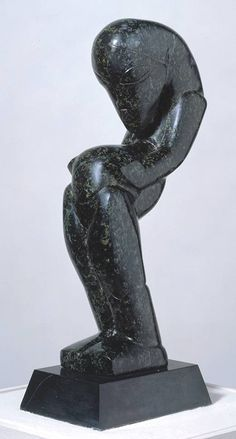 Sir Jacob Epstein 'Female Figure in Flenite', 1913 © The estate of Sir Jacob Epstein Stone Sculpture, Sculpture Art, African Sculptures, Art Database, Contemporary Artwork, Old Art, Figurative Art, Art Photography, Abstract