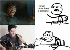 Seriously though! He looks so good playing that guitar & singing!  I get seriously confused...