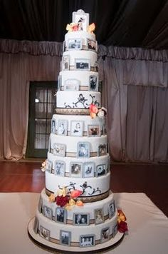 I LOVE tall wedding cakes, when I get married I'm going to have the tallest wedding cake! I don't care if I have to throw a third of it away! haha