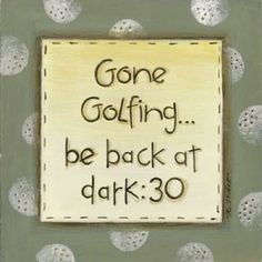Gone Golfing Canvas Art - Karen Tribbet (24 x 24)