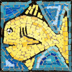 Consider small simple mosaic to start, maybe just a smiley face, kids choose colorway, try tints and shades of that color. Paint chips?