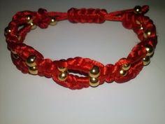 DIY: PULSERA DOBLE CON NUDO PLANO MACRAME Y ABALORIOS (BRACELET flat knot macrame and beads)