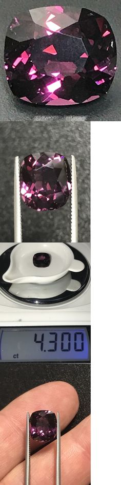 Spinel 110873: Natural 4.30 Carat Welch'S Grape Colored Spinel Cushion Genuine Loose Gemstone -> BUY IT NOW ONLY: $1075 on eBay!