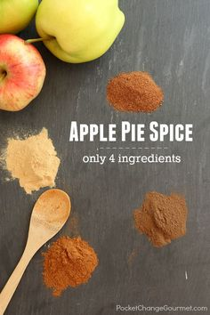 "Apple Pie Spice Recipe - Nothing says ""Fall is in the air"" than warm apple pie, apple crisp, apple sauce, anything apple. Apples are abundant this time of year and so it is important to have the right spices on hand to whip up these fantastic creations."