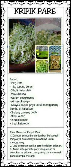Keripik Pare Indonesian Recipes, Indonesian Food, Asian Recipes, Cake Recipes, Snack Recipes, Snacks, Asian Foods, Cooking Classes, Cake Cookies
