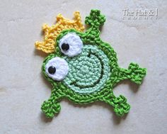CROCHET PATTERN  Hoppy Frogs  a crochet frog pattern by TheHatandI