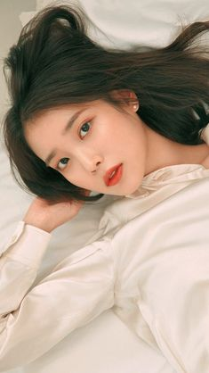 Iu Short Hair, Short Hair Styles, Cute Korean Girl, Asian Girl, Korean Beauty, Asian Beauty, Iu Twitter, Iu Fashion, Korean Actresses