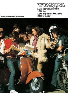 Publicité Vespa Vintage Jeunes