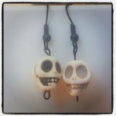 White Skull Earrings. $5 Aust. From Rags To Bags on FaceBook.
