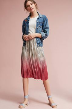 Shop the Ombre Pleated Skirt and more Anthropologie at Anthropologie today. Read customer reviews, discover product details and more.