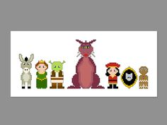Shrek 3 Pattern Bundle Pixel People Character by CheekySharkLabs, $16.00