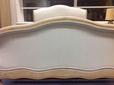 Antoinette french country weathered oak and upholstered Double bedframe | eBay