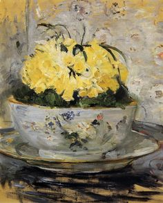 Berthe Morisot - One of the best French impressionist painter, later married to Eugene Manet, the brother of the impressionist painter Edouard Manet. Manet, Painting Still Life, Still Life Art, Paintings I Love, Flower Paintings, Art Floral, Renoir, Berthe Morisot, Daffodils