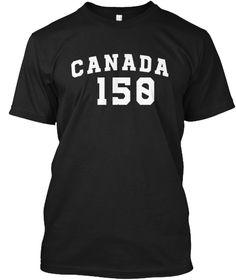 Canada Celebrating 150 Years T Shirt Black T-Shirt Front