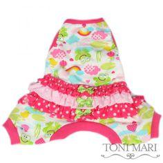 Ruffled Spring Froggy Pajama Toni Mari