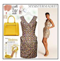 """MYSISTERMADEIT"" by gaby-mil ❤ liked on Polyvore featuring Victoria Beckham, Martha Medeiros, Aquazzura, Benefit, dress, mysistermadeit and eddie2"