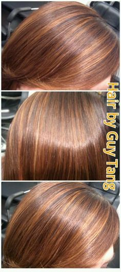 Rich Gold highlights with deep redwood lowlight by Guy Tang. | Yelp