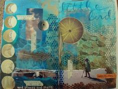 collage from Valley Ridge Art Studio weekend with Michelle Ward
