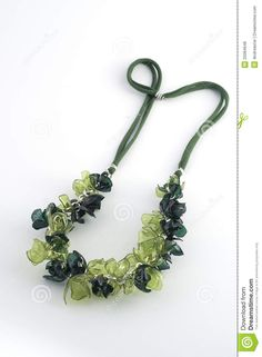 Ecojewelry Necklace From Recycled Plastic Bottles - Download From Over 51 Million High Quality Stock Photos, Images, Vectors. Sign up for FREE today. Image: 25084648
