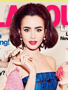 Eye brow inspiration - Lily Collins' Stunning Retro Hair & Makeup On 'Glamour'