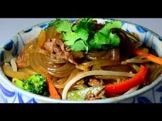 Stir Fried Beef with Sweet Potato Noodle - YouTube