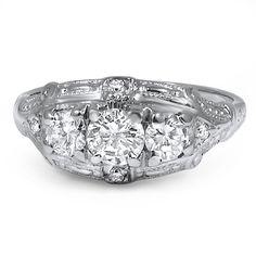 The Dayna Ring #BrilliantEarth #Antique #ArtDeco