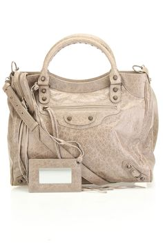 Balenciaga Classic Velo Handbag In Gray Pepper