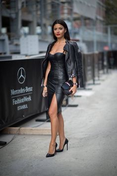 leather dress ❤️