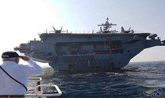 وصول اضخم حاملة طائرات أميركية إلى ميناء حيفا في الداخل المحتل