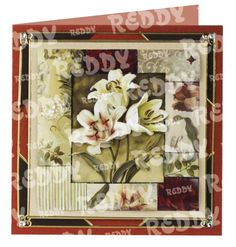 "3D-Die-Cuts ""lilies and tulips with segmented frames"", 2 Sheets Size A4-83549"