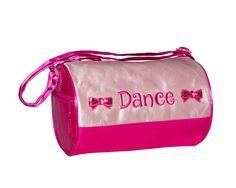 3700 Bows Duffel Pink Little Ballerina, Pink Satin, Diaper Bag, Gym Bag, Dance Bags, Shoulder Strap, Bows, Arches, Bowties