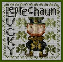 Lucky Leprechaun is the title of this cross stitch pattern from Hinzeit. The price includes the charm as shown in the photo. Celtic Cross Stitch, Cross Stitch Books, Cross Stitch Art, Counted Cross Stitch Patterns, Cross Stitch Designs, Cross Stitching, Cross Stitch Embroidery, Needlework Shops, Leprechaun