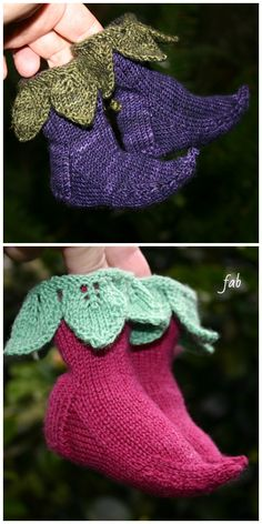 Knit Elvish Elf Baby Booties Knitting Pattern - DIY Magazine - DIY and crafts Baby Booties Knitting Pattern, Crochet Baby Booties, Baby Knitting Patterns, Knitting Socks, Free Knitting, Knit Socks, Pattern Sewing, Elf Slippers, Knitted Slippers