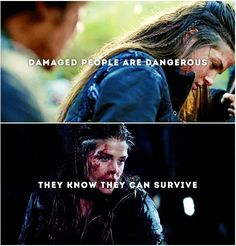 I just love Octavia. And I totally love the actress who potrays her octaviablake marieavgeropoulos The 100 Cast, The 100 Show, Movies Showing, Movies And Tv Shows, Atypical, Damaged People Are Dangerous, The 100 Serie, Orphan Black, The 100 Quotes