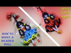 Beaded Crafts, Beaded Ornaments, Bead Embroidery Patterns, Beaded Embroidery, Beaded Necklace Patterns, Baubles And Beads, Bead Loom Bracelets, Doll Tutorial, Bead Jewellery