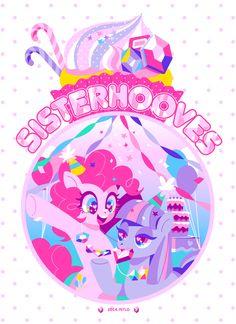 #763834 - artist:nitlo, maud pie, pinkie pie, pixiv, rock candy necklace, safe - Derpibooru - My Little Pony: Friendship is Magic Imageboard