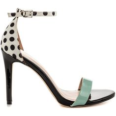 Aldo Women's Paules - White Black ($82) ❤ liked on Polyvore featuring shoes, high heel shoes, strap shoes, black and white shoes, party shoes and multi colored shoes