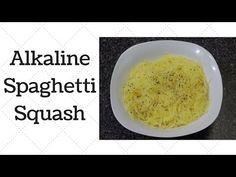Spaghetti Squash Alkaline Electric Recipe - YouTube                                                                                                                                                     More