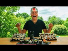 Grilled Veggie Sushi with BBQ roasted vegetables – Trendy Vegetarian Rec... Roasted Vegetables, Veggies, Bbq Roast, Veggie Sushi, Grilling Recipes, Vegetarian Recipes, Youtube, Vegetable Recipes, Vegetarische Rezepte