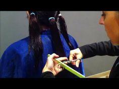 corte de pelo fácil y  rápido con coletas(programado) - YouTube