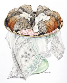 Orange & Poppy Seed Cake, perfect baking smells to warm the house on a cold winter's day