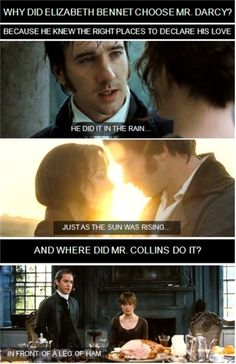 Location. Location. Location. Jane Austen, Elizabeth Bennet, Movies Showing, Movies And Tv Shows, Mr Collins, Movie Quotes, Funny Quotes, Funny Memes, Mr Darcy