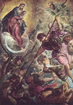 """Tintoretto: """"Battle of the Archangel Michael and the Satan"""", unknown year."""