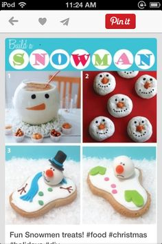 These are cool snowman treats. I feel sorry for the melting snowmen!
